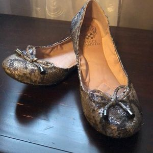Vince Camino silver/grey flat shoes